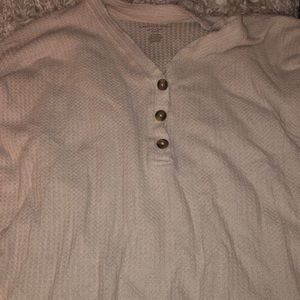 American eagle tan sweater with buttons